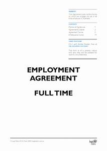 employment agreement template free sample download diy With full time employment contract template