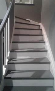 beautiful peindre dans un escalier photos joshkrajcikus With peindre escalier bois en blanc 6 peinture sol interieur decolab sol 100 parquet v33 gris