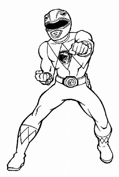 Coloring Power Rangers Pages Ranger Sheets Printable