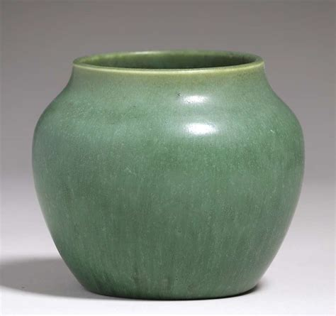 Green Vase by Hshire Pottery Matte Green Vase California Historical