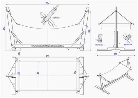 Standard Hammock Dimensions by Garden Hammock With Stand Plan