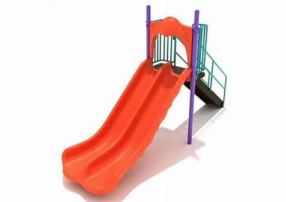 Slide Double Foot Commercial Straight Playground Equipment