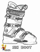 Coloring Sports Ski Boot Winter Skiing Yescoloring Olympic Sheet Down Freeze sketch template