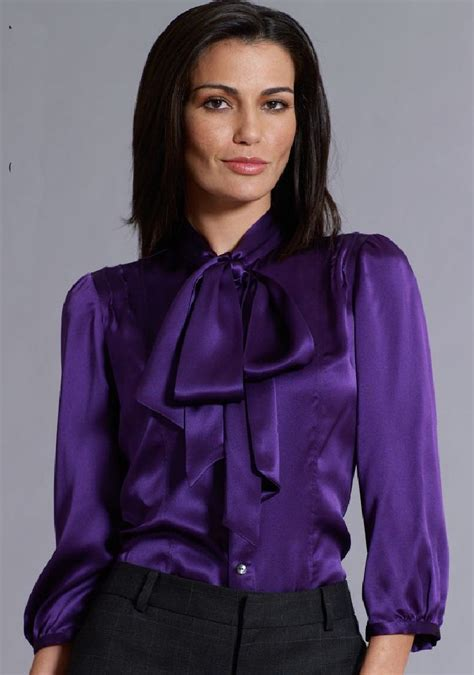 purple blouse womens purple satin blouse satin blouse