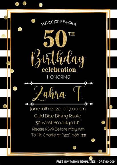 50th Birthday Invitation Templates Word Editable Ms