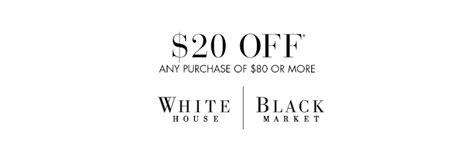 white house black market coupon codes white house black market 20 80 purchase southern