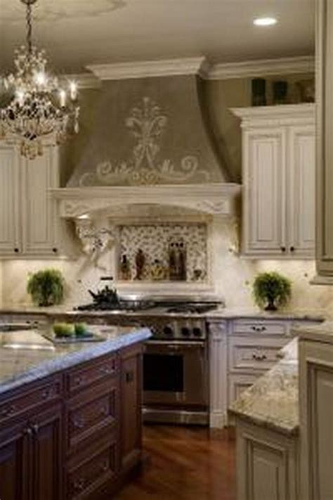 tuscan kitchens mural white cabinets modern kitchen built