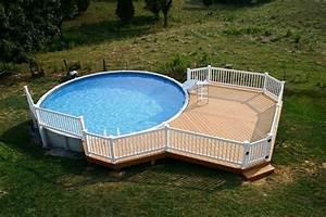Pool Dach Rund : cool above ground pools with decks modern backyard ~ Watch28wear.com Haus und Dekorationen