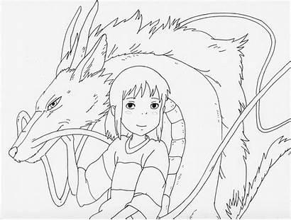 Chihiro Haku Lineart Drawing Deviantart Elfen Lied