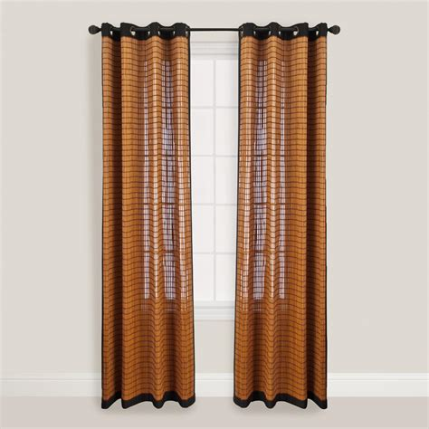 curtains with grommets bark bamboo curtains with grommets world market
