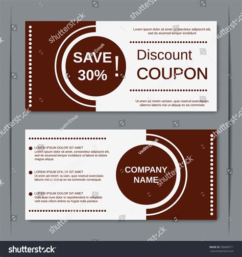 stock layout coupons