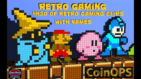 Retro Video Games Screensaver 4h30 Of Hd Video Youtube
