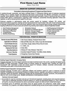 desktop support specialist resume sample template With sample resume for experienced desktop support engineer