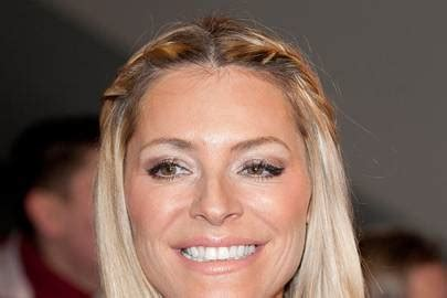 Tess Daly's simple centre-parted hairstyle - celebrity ...