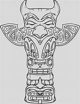 Totem Coloring Pole Printable sketch template