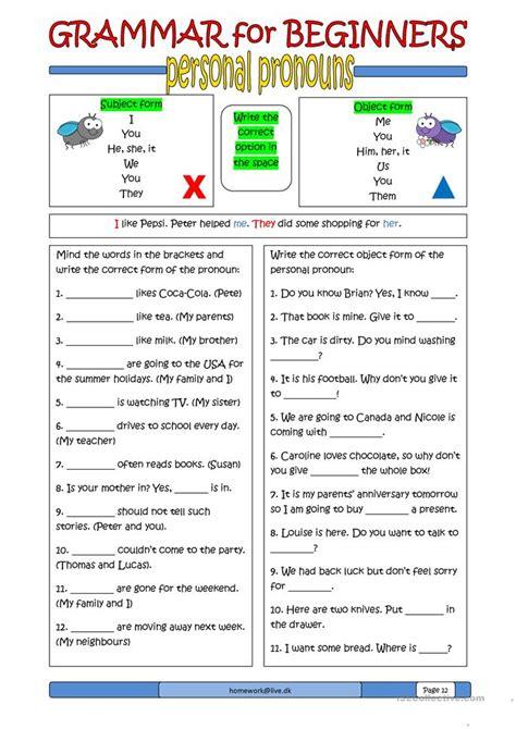 all worksheets 187 esl beginner grammar worksheets