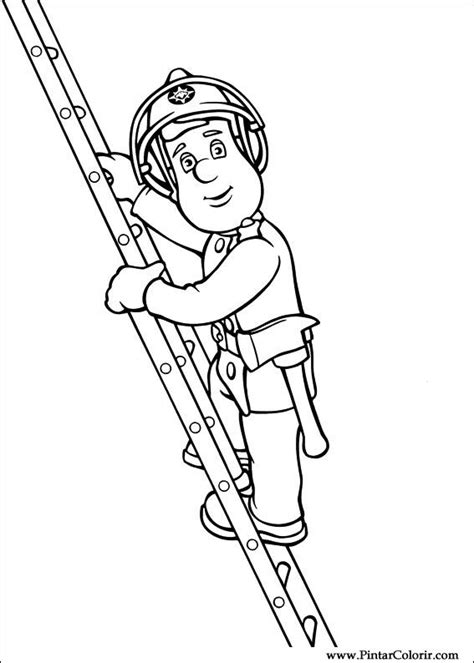 drawings  paint colour fireman sam print design