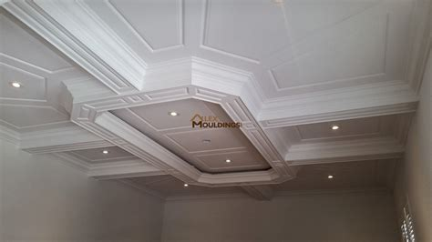 Coffered Ceiling Panels by Coffered Ceiling With Wainscoting Panels Coffered And