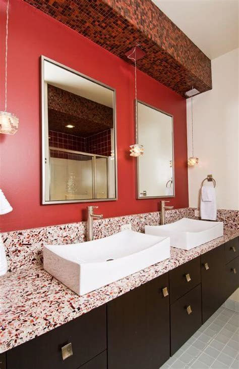 incorporate red countertops   kitchen
