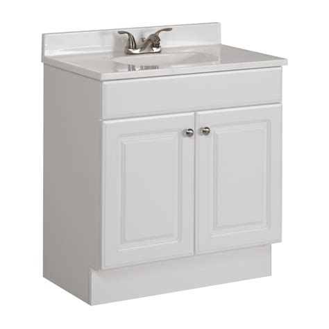 shop project source white integrated single bathroom