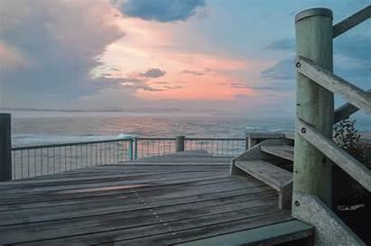 Deck Sunset Wood Ocean Stairs Simple Australia