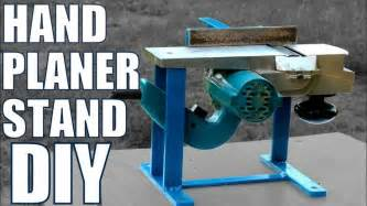 hand planer stand diy youtube cepillo electrico