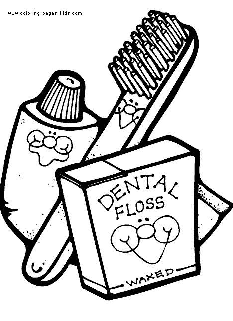 Toothbrush And Toothpaste Coloring Page Toothbrush Toothpaste And Dental Floss Color Page