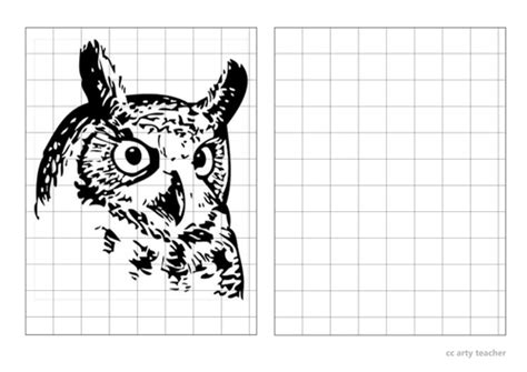 owl grid drawings  scrowther uk teaching resources tes