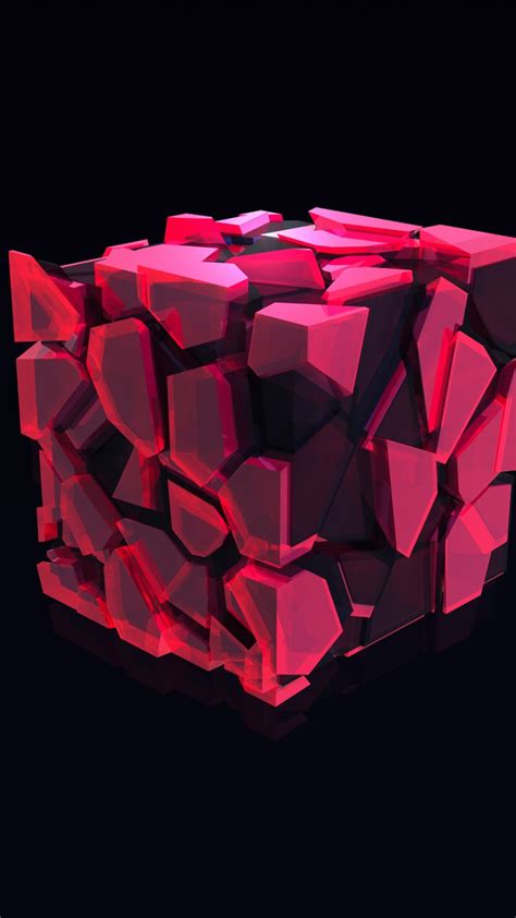 Abstract 3d Cube Wallpaper by Wallpaper Cube 3d Pink Hd Abstract 16361
