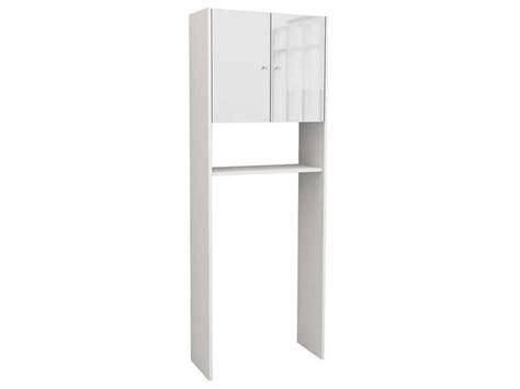 meuble de rangement wc machine 224 laver soramena coloris blanc vente de armoire colonne