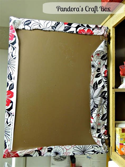 cover cabinet doors  fabric  mod podge