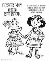 Scout Coloring Daisy Helpful Friendly Law Pages Petal Scouts Yellow Makingfriends Daisies Petals Activities Brownie Clipart Help Learn Printable Being sketch template