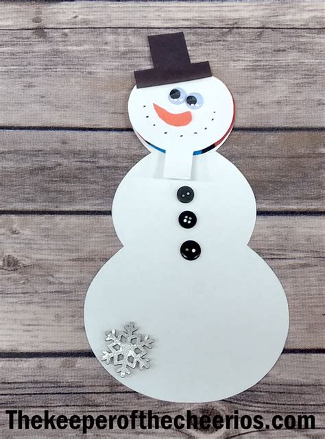 snowman keepsake card  keeper   cheerios