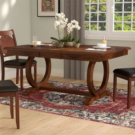world menagerie kapoor extendable dining table reviews wayfair