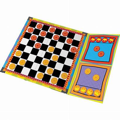 Magnetic Checkers Travel Ideal