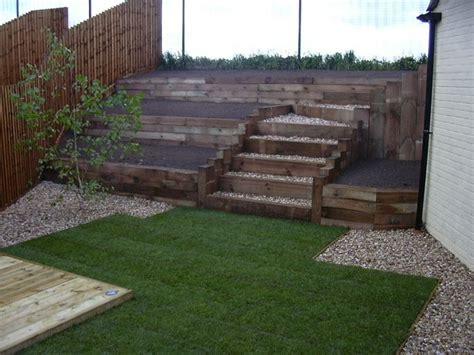 timber retaining wall timber retaining wall for the yard porch pinterest railway sleepers wall ideas and rocks