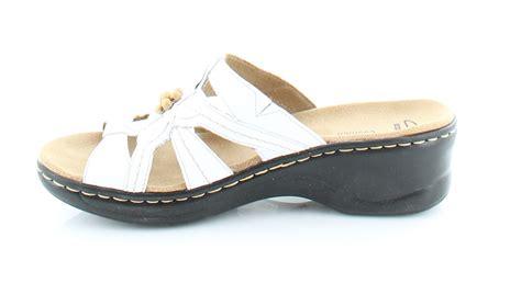 Clarks Lexi Myrtle White Womens Shoes Size 9 N Sandals