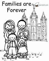 Coloring Forever Pages Primary Families Lds Together Clipart Lessons Temple Easter Nursery Lesson Evening Church Jesus Behold Ones sketch template