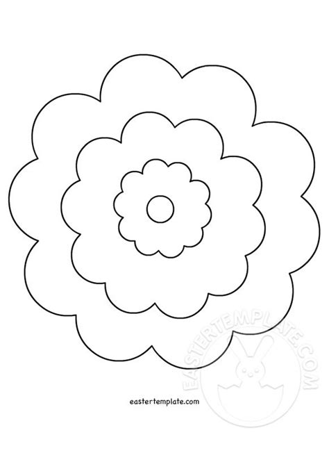 printable flower template cut out flower cut outs printable easter template