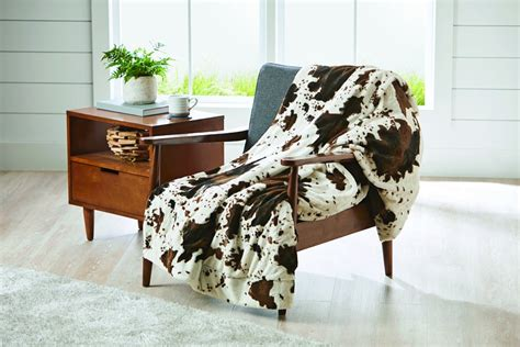 Faux Cowhide Blanket by Better Homes And Gardens Cowhide Faux Fur Throw Blanket