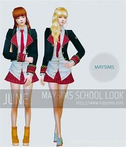 Sims 4 school uniform | Tumblr