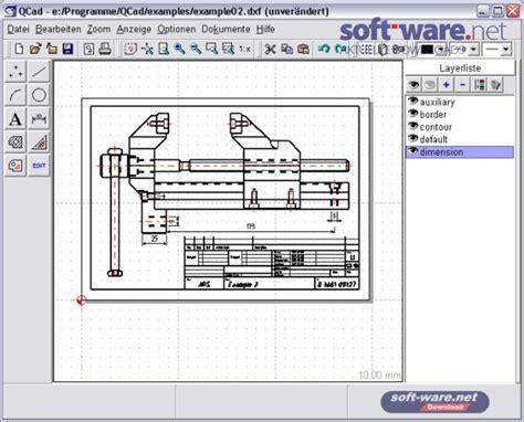 Wohnungseinrichtungs Programm Kostenlos by Qcad 1 5 1 Windows Bei Soft Ware Net