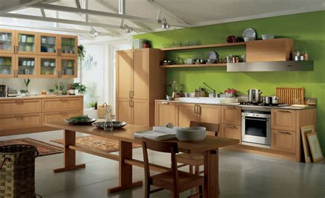 green color kitchen peinture mur cuisine 1358