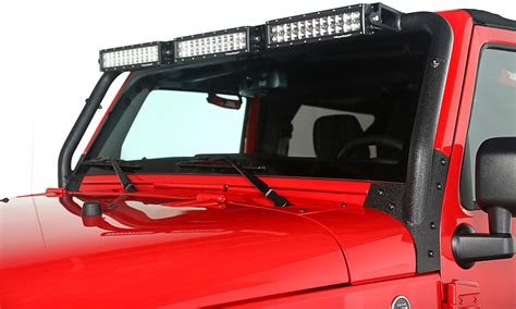 rugged ridge 11232 26 windshield led light bar kit for 07