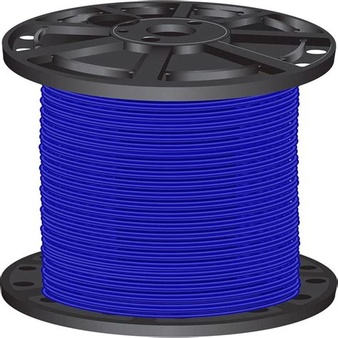 southwire 2 500 ft 10 blue solid cu thhn wire 11598005 the home depot