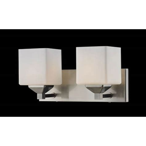 Two Light Bathroom Fixture by Z Lite Quube Two Light Bathroom Fixture 2104 2v Bellacor