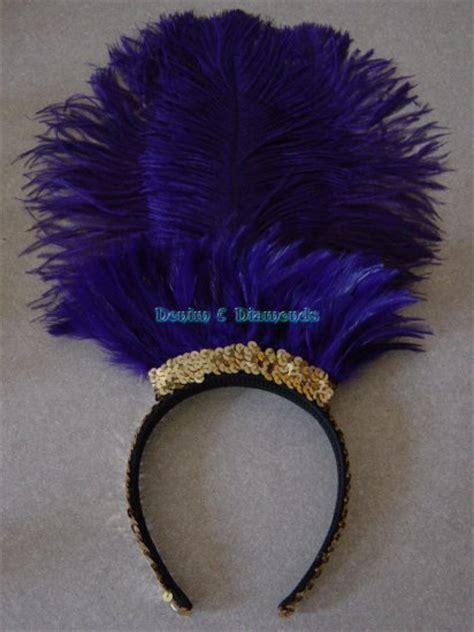 ostrich feather l shade royal purple ostrich feather showgirl saloon headband