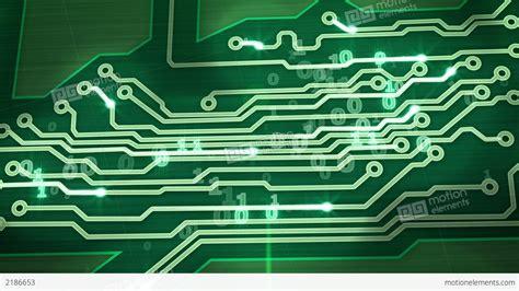 Green Digital Circuit Board Pan Loop Stock Animation