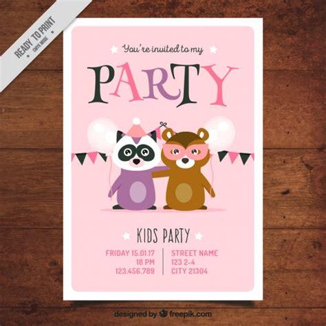 party einladung vorlage mit tieren  der