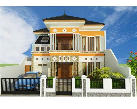 model rumah sederhana mewah  lantai